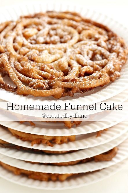 Baking in a skillet...fun and easy funnel cake @createdbydiane