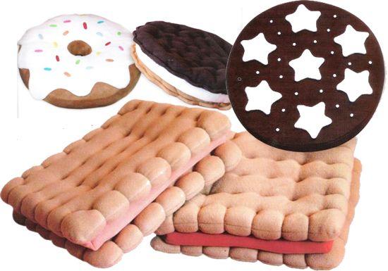 Cuscini a forma di biscotti