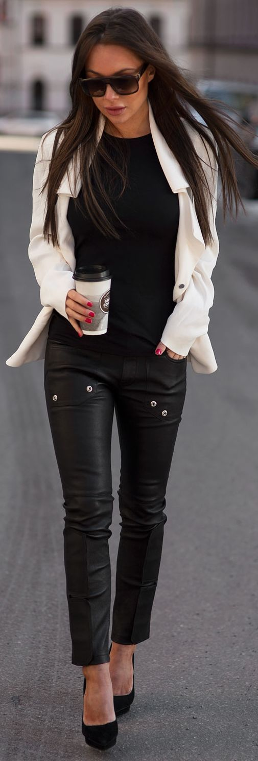 Black And White Urban Chic Outfit