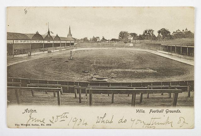 Postcard of Aston Villa Football Grounds