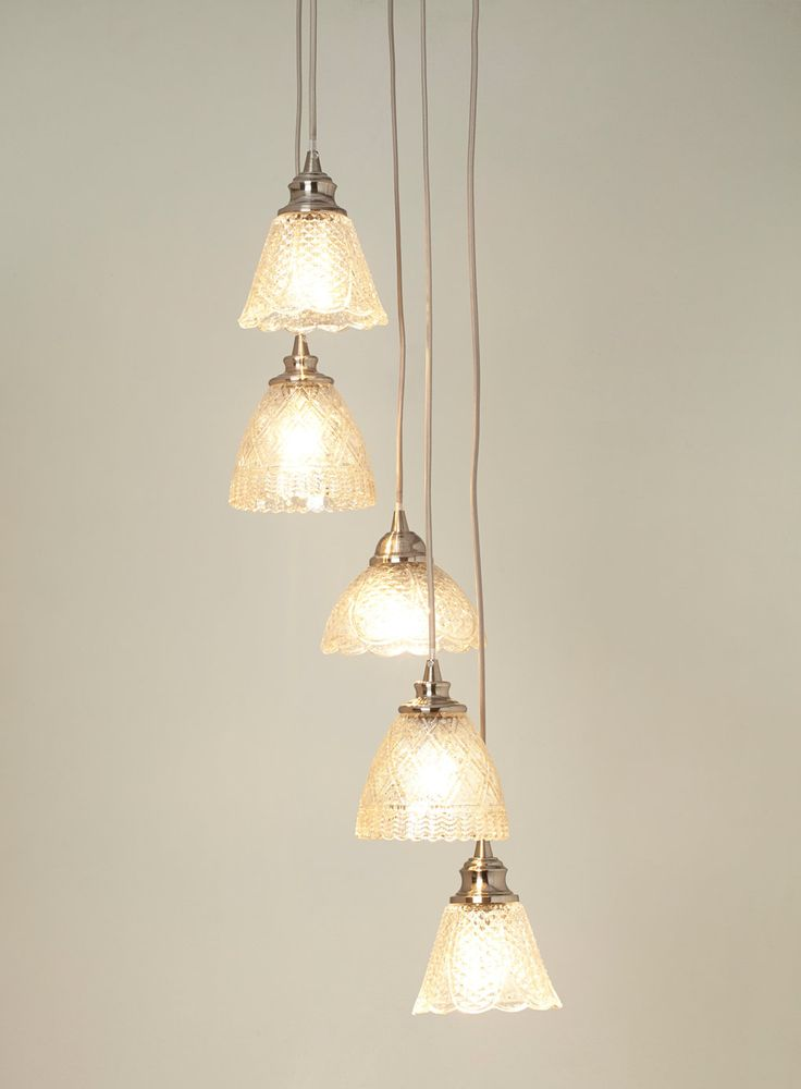 Champagne Matilda 5 light cluster - BHS