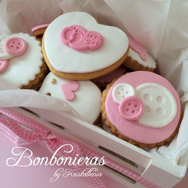 Cookies for a baby girl Pink