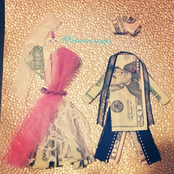 South Asian Indian bride & groom wedding money card