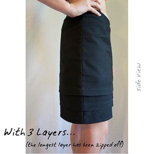 Layered skirt, with zipperes layers|24 Genius Clothing Items Every Girl Needs