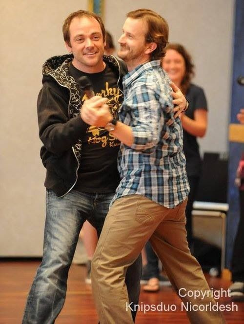 Gabriel and Crowley (Richard and Mark)