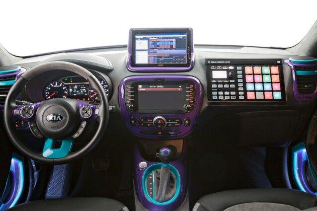 Purple And Blue Custom Kia Soul Interior
