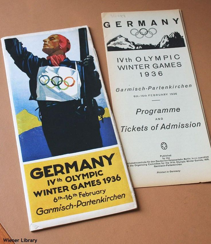 Pamphlet published in Germany for visitors attending the Winter Olympics in Germany in 1936.