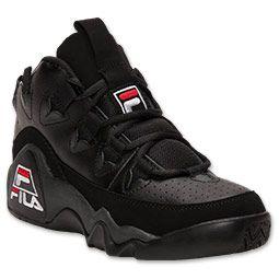 Men's Fila 95 Retro Basketball Shoes  FinishLine.com   Black/White/Fila Red