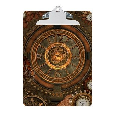 Steampunk, noble design with clocks and gears Clip on CafePress.com
