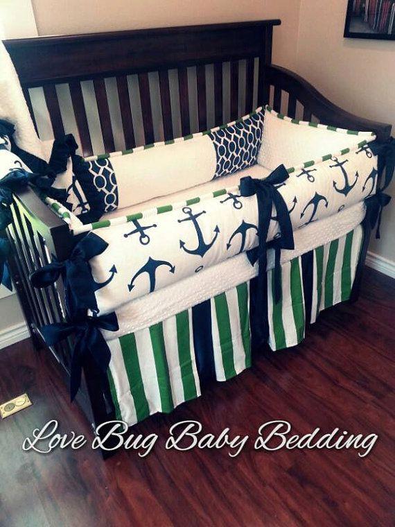 Custom Baby Bedding  Anchors Away by LoveBugBabyBedding on Etsy, $455.00