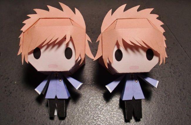 Hikaru and Kaoru Paper Crafts! :v