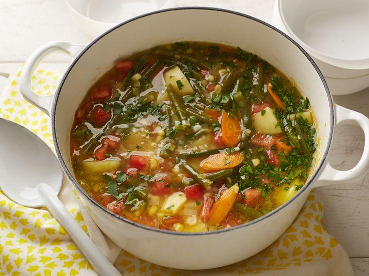 Garden Vegetable Soup Recipe : Alton Brown : Food Network - FoodNetwork.com  #soup #vegetarian