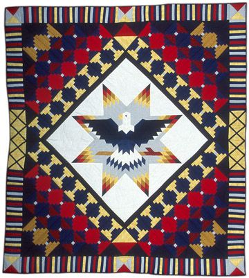 Native American Star Quilts | american eagle star quilt bear soldier quilters sioux bismark south ...