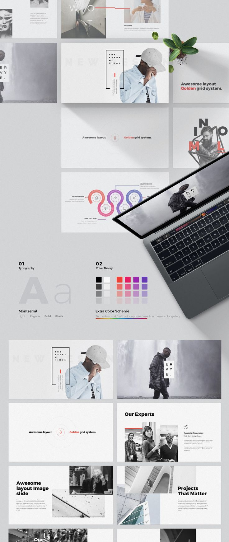 A powerful & creative slide presentation available for PowerPoint and Keynote. It comes with 80+ unique presentation slides with great professional layout and creative design. Every makes it easy to change colors, modify shapes, texts, & charts, all shapes are editable. Includes a fabulous set of 800 vector icons and Apple device mockups.