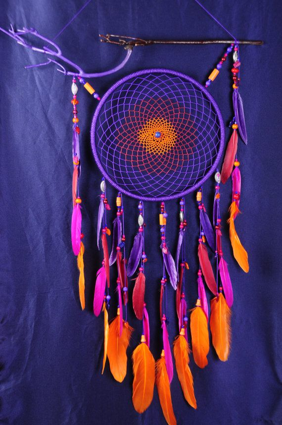 Violet Dream Catcher Large Dreamcatcher Sunset Dream сatcher