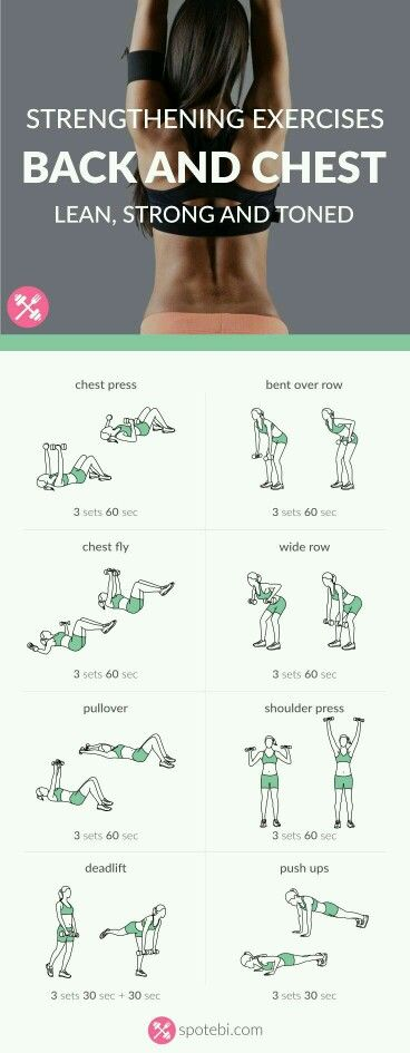 chest and back strengthening exercises