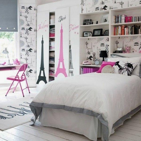 17 meilleures id es propos de chambres d 39 adolescentes for Decoration chambre ado