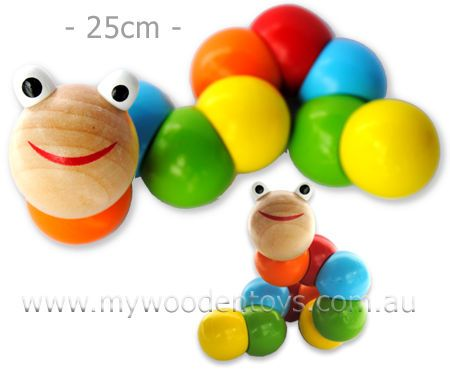 Big Wooden Wiggly Worm at My Wooden Toys