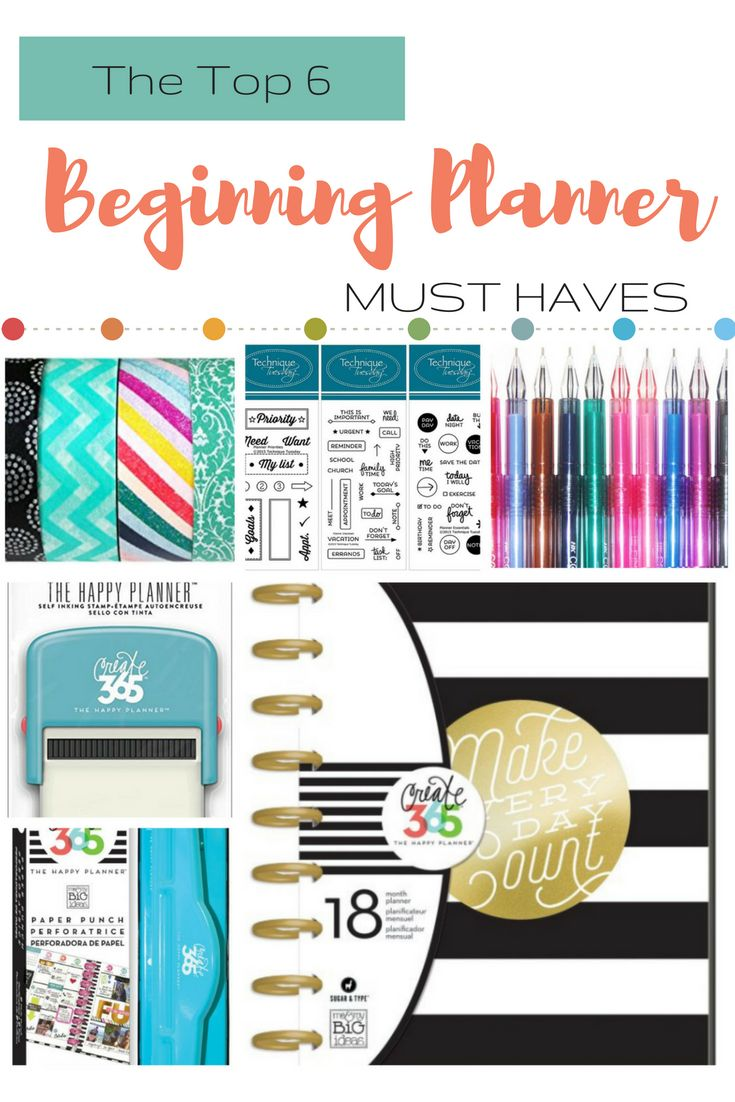 The top 6 planner supplies to get you started planning like a boss #plannersupplies #planning