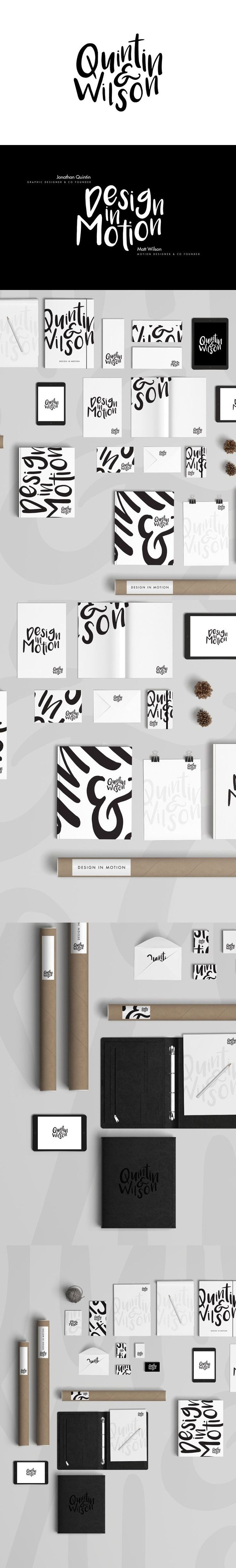 Black and white, brand identity design collection | Quintin & Wilson | Design In Motion