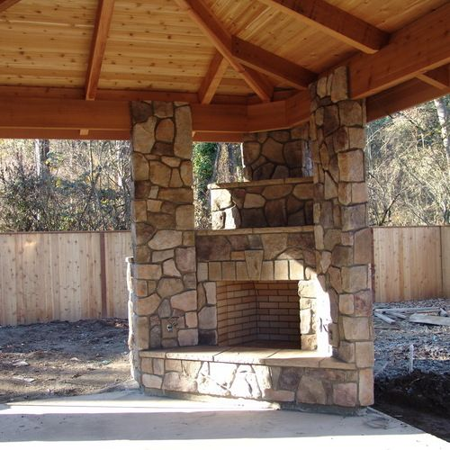Outdoor Fireplace Design Ideas: Best 25+ Outdoor Fireplace Designs Ideas On Pinterest