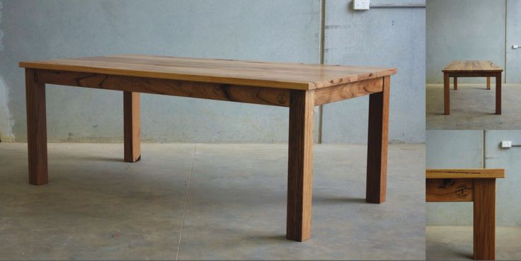 Classic Dining Table in Reclaimed Australian Hardwoods by CHRISTOPHER BLANK