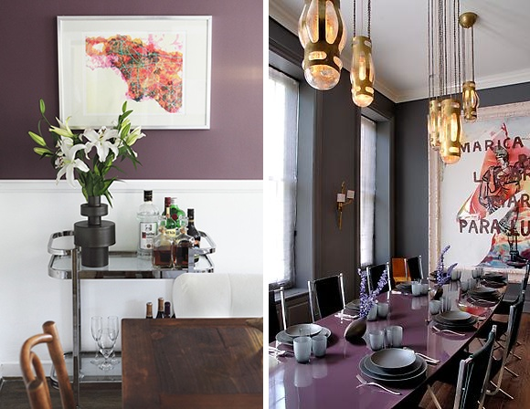 Bold Purple Dining Rooms