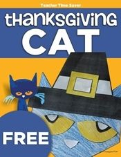 How to Make a Pete the Cat Thanksgiving Activity - KindergartenWorks