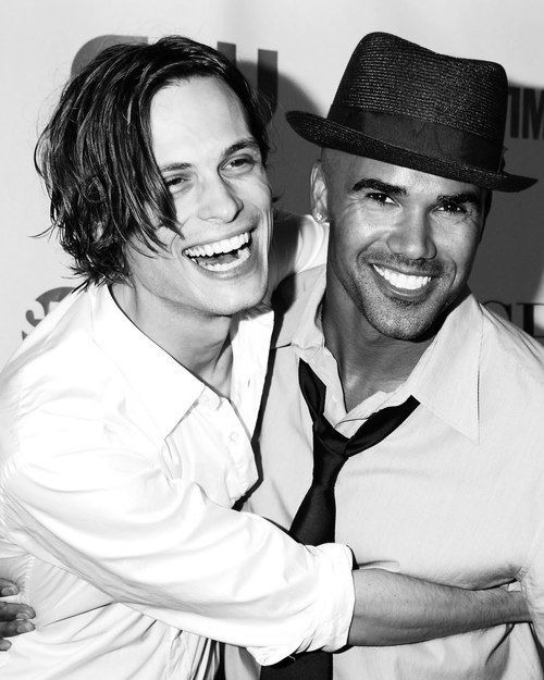 Shemar Moore & Matthew Gray Gubler, you might have to slightly avert your eyes from these super bright smiles.