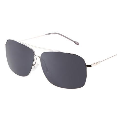 Die Neue Casual Half-Frame Bambus Mode Polarisierte Sonnenbrille,Gray
