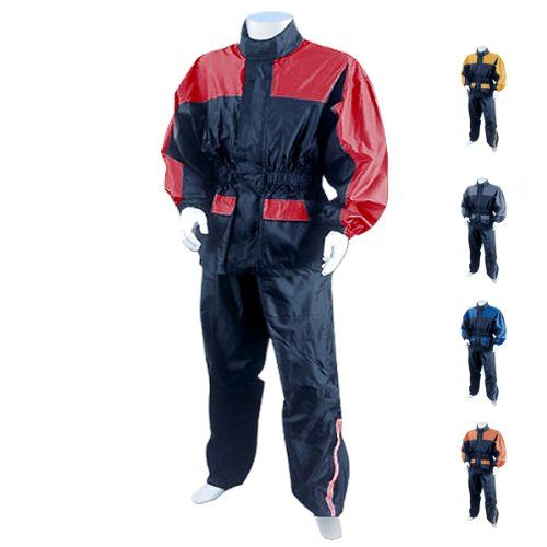 Motorcycle Rain Gear - Two Piece Rain Suit RS5031 XL Grey