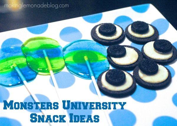 Monsters Inc University Party Food & Snack Ideas #shop