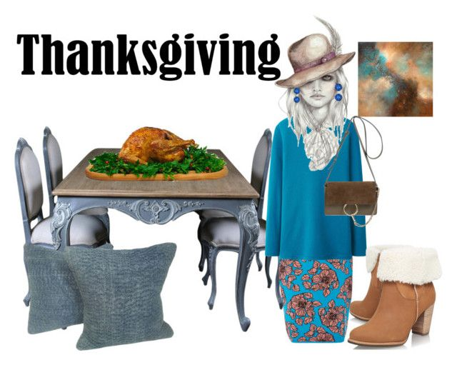 """""""Turkey day!"""" by stormi3 ❤ liked on Polyvore featuring Tak.Ori, Uniqlo, UGG Australia, Chloé and thanksgiving"""