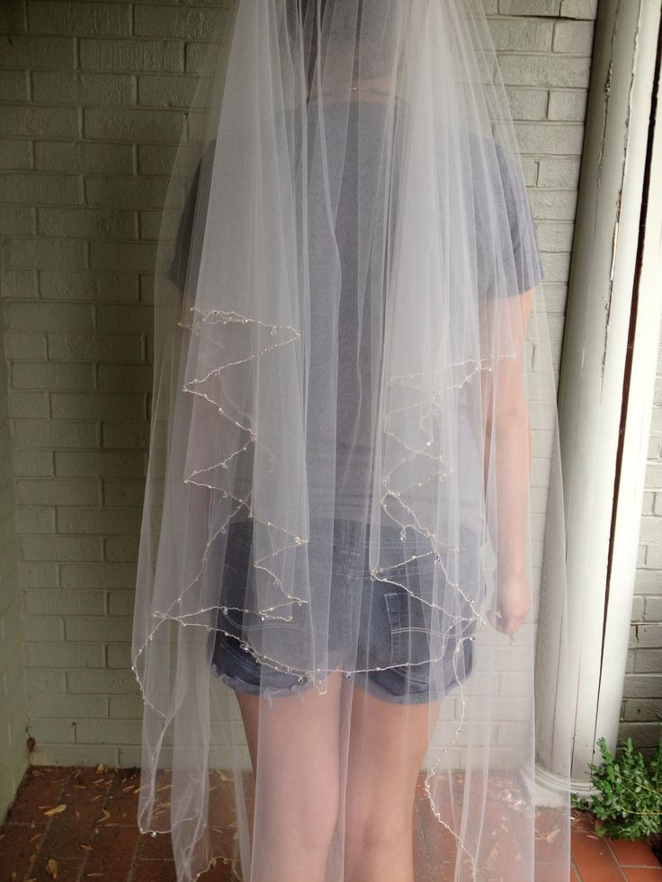 Full Length 2 Tier Diy Veil