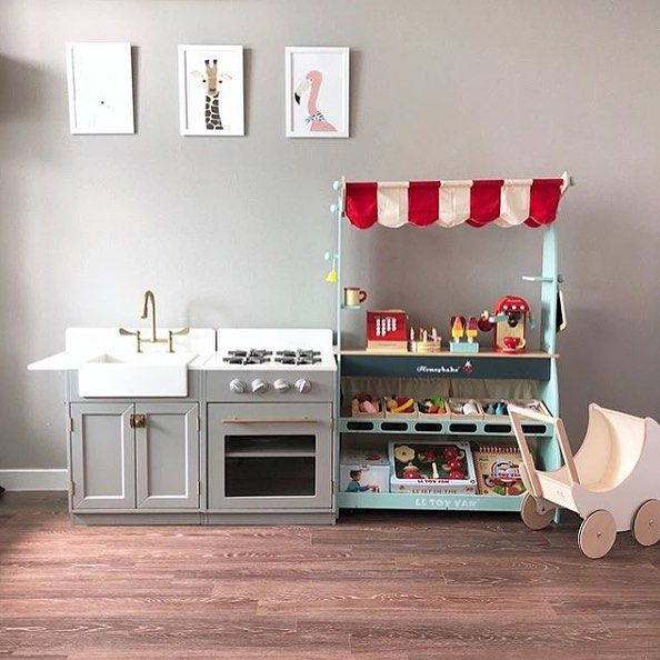 Grab A Coffee Or Head Down To The Market With This Shop Cafe Set This Reversible Stall Is Designed To Spark Creativity And Enco In 2020 Home Decor Vintage Toys Toys