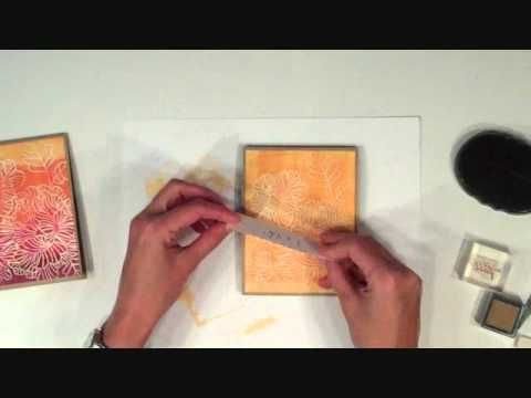Video showing brayer technique: apply color to embossed cardstock