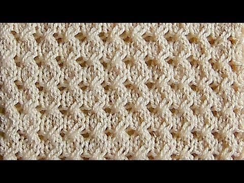 Рельефный объемный узор Вязание спицами Видеоурок 61 - YouTube