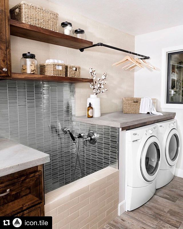 Adding A Dog Shower To Your Laundry Room Genius Plus We Love