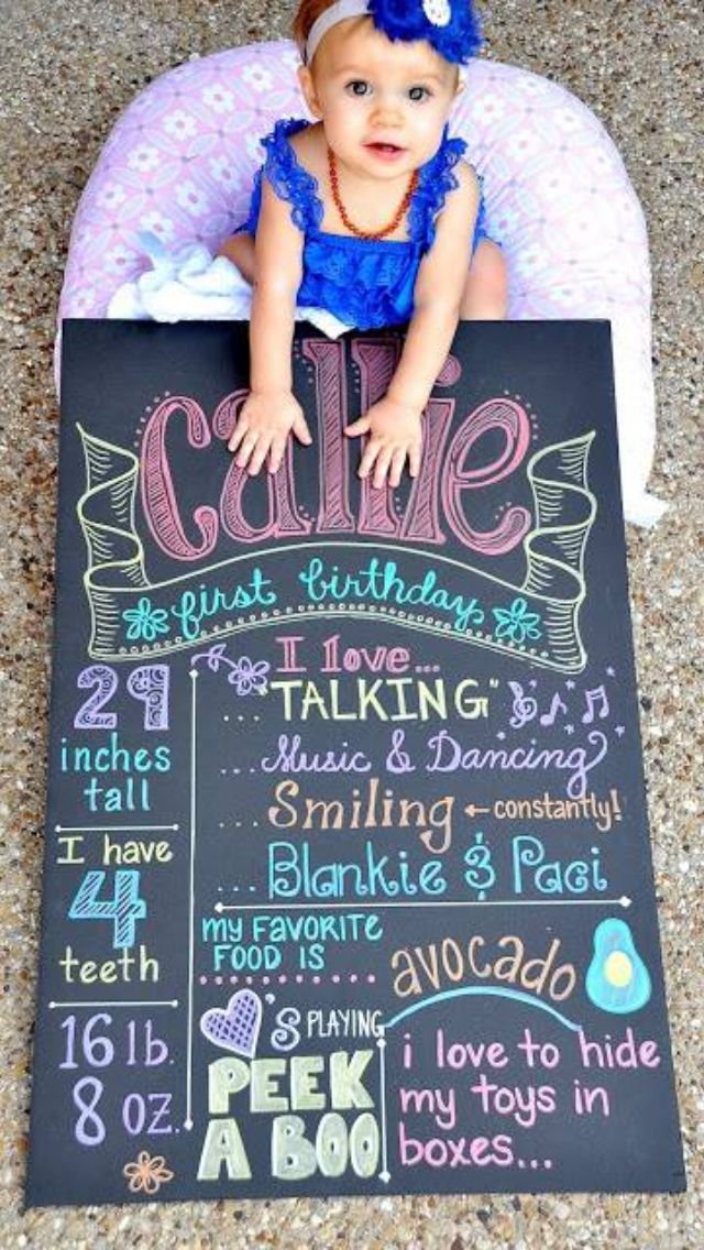 First Birthday Picture Ideas – Babies
