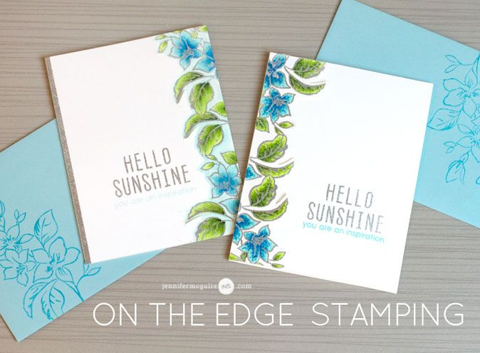 On the edge stamping technique and Altenew Marker review with Jennifer McGuire!