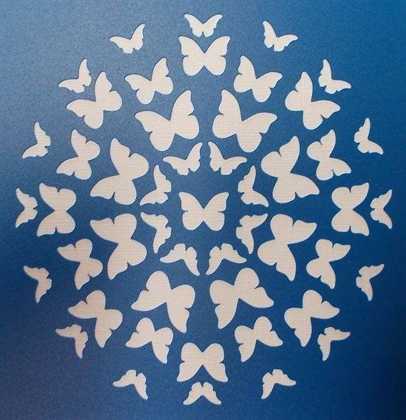 Circle of Butterflies Stencil by kraftkutz on Etsy