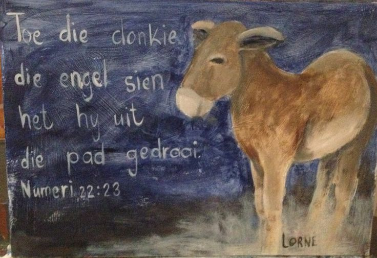 Oil painting - donkey