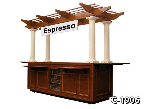 Indoor food carts and kiosks are great for pretzels, coffee, cupcakes and more.