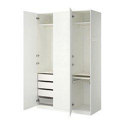 """PAX Wardrobe, white, Vinterbro white - 59x23 3/4x93 1/8 """" - IKEA"""