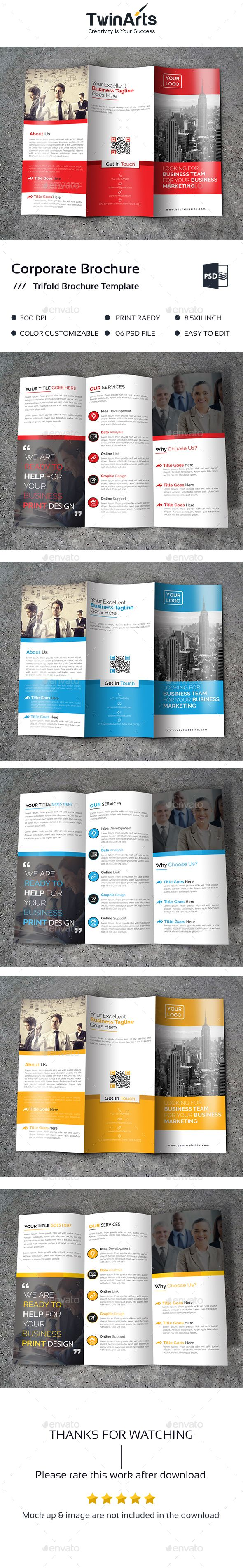 Trifold Brochure Template PSD #download