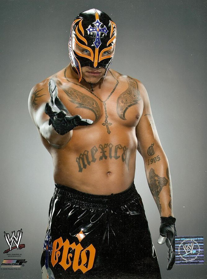 Rey Mysterio may have been the first wrestler with contacts AND a mask.