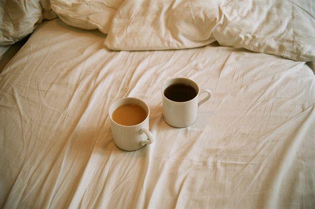 my tea . his coffee.