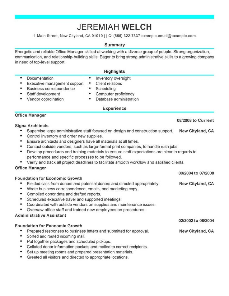 17 best resume images on Pinterest Cover letter sample, Resume - medical front office resume