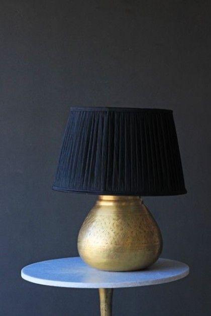 Melia Brass Table Lamp Base