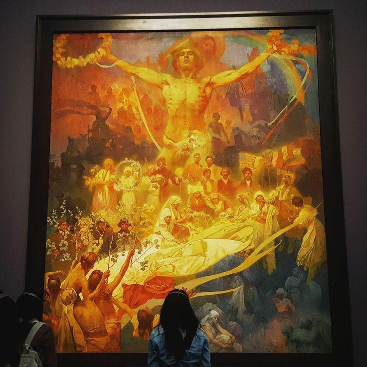 Master Alphonse Mucha. Finally I can see famous Slav Epic.  #mucha #alphonsemucha #art #exhibition #tokyo #japan #roppongi #slavepic #paintings  #painter #epoc #large #artnouveau
